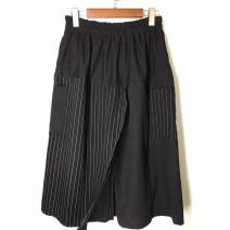 Casual pants Black, thin denim, dark blue Average size Summer of 2019 Cropped Trousers Wide leg pants High waist
