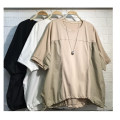 T-shirt White, black, apricot, light blue, purple pink Large size Short sleeve easy cotton 96% and above
