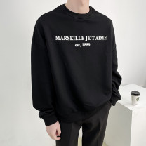 Sweater Youth fashion Others Black, gray M,L,XL,2XL letter Socket routine Crew neck spring easy leisure time teenagers Exquisite Korean style routine cotton printing No iron treatment European and American style