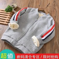 Cotton padded jacket male nothing other Fat dad's house Grey, blue, navy thickening Zipper shirt leisure time No model Solid color blending Crew neck Polyester 64.5% viscose 35.5% Polyester 95.5% polyurethane elastic fiber (spandex) 4.5% Chinese Mainland