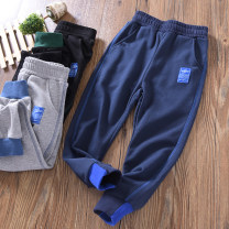 trousers Fat dad's house male spring and autumn trousers Simplicity No model Sports pants Leather belt middle-waisted cotton Don't open the crotch Cotton 95% polyurethane elastic fiber (spandex) 5% Class B Chinese Mainland