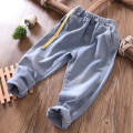 trousers Fat dad's house male Black, dark blue, light denim blue spring and autumn trousers Simplicity No model Jeans Leather belt middle-waisted cotton Don't open the crotch Cotton 85% polyester 15% Class B Chinese Mainland