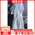 Casual pants Others Youth fashion S,M,L,XL,2XL,3XL,4XL,5XL,39,40,41,42,43,44 thin trousers Other leisure easy Micro bomb autumn Large size Chinese style 2021 Medium low back Straight cylinder Low crotch straddle pants printing washing Animal design Cotton and hemp Original designer