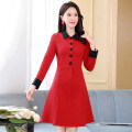 Dress / evening wear Weddings, adulthood parties, company annual meetings, daily appointments M L XL XXL Black green big red grace Medium length middle-waisted Winter 2020 Self cultivation MJQY20X - one thousand one hundred and twenty-seven - 09 Long sleeves Solid color Meng Jia Xian Yi routine