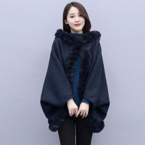 woolen coat Winter 2020 Average size Black gray through Red Navy polyester 95% and above Medium length commute A button Bat sleeve Crew neck Solid color Cape type Simplicity MJQY20X-1107-08 Meng Jia Xian Yi 30-34 years old Pleated stitching Solid color polyester fiber Polyester 100%