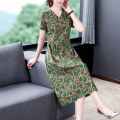 Women's large Spring 2021 Green red blue M L XL 2XL 3XL 4XL 5XL Dress commute easy Socket V-neck 1-10 Xinzhiyao 35-39 years old 96% and above Other 100% Exclusive payment of tmall other