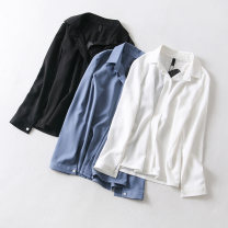 shirt White, blue, black S,M,L other 96% and above Long sleeves commute Regular routine Solid color Other / other Ol style