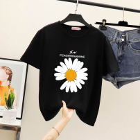 T-shirt S,M,L,XL,2XL,3XL Summer 2020 Short sleeve Crew neck easy Regular routine commute nylon 86% (inclusive) -95% (inclusive) Korean version originality Plants and flowers Other / other printing