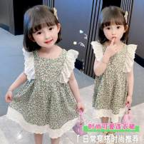 Dress Picture color female Other / other 90cm,100cm,110cm,120cm,130cm Other 100% summer Korean version Skirt / vest Broken flowers cotton A-line skirt sly1002 Class B 12 months, 18 months, 2 years old, 3 years old, 4 years old, 5 years old, 6 years old, 7 years old Chinese Mainland Shanghai