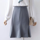 skirt Spring 2020 S,M,L,XL blue Middle-skirt commute High waist skirt Solid color Type H 18-24 years old 71% (inclusive) - 80% (inclusive) other Korean version