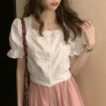 Fashion suit Spring 2021 Average size Lace shirt, pink pants 18-25 years old Other / other