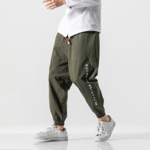 Casual pants Others Youth fashion K92 text black, K92 text gray blue, K92 text army green, 1 M,L,XL,2XL,3XL,4XL,5XL routine trousers Other leisure easy Micro bomb K92 autumn Chinese style 2019 Haren pants