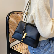 Bag The single shoulder bag PU Small square bag Mivor brand new Japan and South Korea Small leisure time soft Cover type no Solid color Single root One shoulder cross nothing youth Horizontal square chain Soft handle polyester fiber mobile phone bag soft surface Autumn 2020