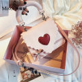 Bag Inclined shoulder bag PU other Mivor Beige Pink brand new Fashion trend Small leisure time hard Cover type no Solid color Single root One shoulder portable messenger nothing youth Vertical square Color contrast Soft handle synthetic leather mobile phone bag soft surface Autumn and winter 2018