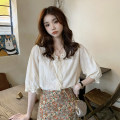 Fashion suit Summer 2021 S. M, average size Floral skirt, lace shirt Other / other 1222#