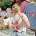 T-shirt White, blue, pink M,L,XL,2XL Summer 2020 Short sleeve Crew neck easy Medium length routine commute cotton 96% and above 18-24 years old Korean version originality