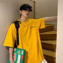 T-shirt Youth fashion White, black, yellow routine S. M, l, XL, 2XL, 3XL, 4XL, 5XL, XS plus small Others Short sleeve Crew neck easy daily summer teenagers routine tide Cotton wool 2021 Alphanumeric printing cotton Creative interest No iron treatment