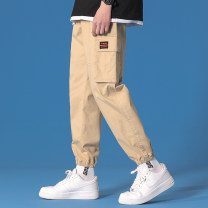 Casual pants Others Youth fashion Black, khaki, army green S. M, l, XL, 2XL, 3XL, 4XL, XS plus small routine Ninth pants Other leisure Self cultivation No bullet Four seasons youth 2021 middle-waisted Cotton 100% Arrest line Non brand