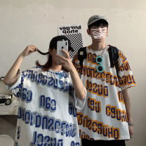 T-shirt Youth fashion routine Others Short sleeve Crew neck easy Other leisure summer Cotton 100% Large size routine like a breath of fresh air 2020 Alphanumeric other No iron treatment