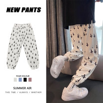 Casual pants Others Youth fashion White, blue, violet, black S,M,L,XL,2XL,XS routine Ninth pants Other leisure easy Micro bomb autumn teenagers tide 2020 middle-waisted Sports pants other washing cotton cotton Non brand 50% (inclusive) - 69% (inclusive)