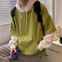 Sweater Youth fashion Others Light gray, dark gray, pink, green, yellow S. M, l, XL, 2XL, 3XL, XS plus small other Socket routine Hood easy leisure time teenagers Youthful vigor