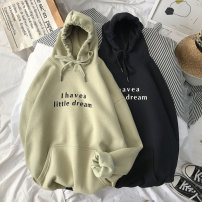 Sweater Youth fashion Others White, black, light grey, dark grey, greyish green M,L,S,XL,2XL,3XL,XS,4XL,5XL other Socket Plush Hood autumn easy leisure time teenagers tide routine Polyester 55% cotton 45% cotton printing washing 30% (inclusive) - 49% (inclusive)