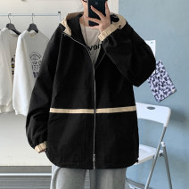 Jacket Tagkita / she and others Youth fashion Black, beige M. L, s, XL, 2XL, 3XL, 4XL, 5XL, XS plus small routine easy Other leisure spring Polyester 100% Long sleeves Wear out Hood tide teenagers routine 2021