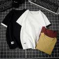 T-shirt Youth fashion Black, white, Burgundy, khaki thin M. L, XL, 2XL, 3XL, 4XL, 5XL, XS plus small, s Others Short sleeve Crew neck easy daily summer