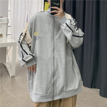 Sweater Youth fashion Others White, gray, black S. M, l, XL, 2XL, XS plus small other Cardigan routine stand collar spring easy Home teenagers Youthful vigor zipper