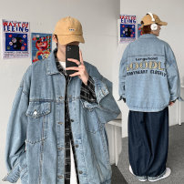 Jacket Other / other Youth fashion blue S. M, l, XL, 2XL, XS plus small easy Other leisure spring Long sleeves Single breasted 2021 Embroidery