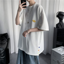 T-shirt Youth fashion White, black thin S. M, l, XL, 2XL, XS plus small Others elbow sleeve Crew neck easy Other leisure summer