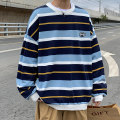 Sweater Youth fashion Others White stripe, blue stripe 50. XL, s, 2XL, 3XL, m, XS plus small, 4XL, 5XL stripe Socket routine Crew neck spring easy Off shoulder sleeve