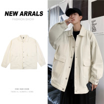 Jacket Other / other Youth fashion Black, green, beige S. M, XL, 2XL, l, XS plus small routine easy Other leisure spring Cotton 60% polyester 40% Long sleeves Wear out Lapel tide teenagers routine Single breasted Cloth hem No iron treatment Closing sleeve Solid color Cover patch bag cotton
