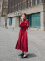 Dress Spring 2020 Red, black S,M,L,XL longuette Long sleeves Other / other