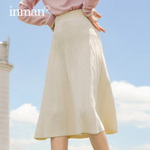 skirt Autumn 2020 S M L XL Mid length dress Versatile Natural waist A-line skirt Solid color Type A 25-29 years old 81% (inclusive) - 90% (inclusive) other Inman / Inman cotton Embroidery