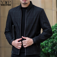 Jacket Fashion City Playboy VIP collection routine standard Other leisure Four seasons alw-6575 Polyester 100% Long sleeve Wear out Baseball collar tide middle age short Zipper placket Straight hem Closing sleeve Non iron treatment 2020 other Side seam pocket other L,XL,2XL,3XL