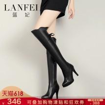 Boots Thirty-four black Superfine fiber
