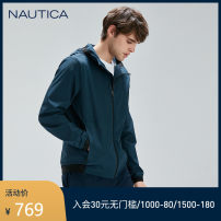 Jacket Nautica / nodica Fashion City Malachite green (201) Dousha green (201) S M L XL XXL routine standard go to work spring 001-JC0194 Polyamide fiber (nylon) 86% polyurethane elastic fiber (spandex) 14% Long sleeves Wear out Hood Business Casual youth routine Zipper placket Solid color Spring 2020