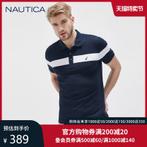 Polo shirt Nautica / nodica Fashion City routine S M L XL XXL easy go to work summer Short sleeve Business Casual routine youth Cotton 70% polyester 30% Summer 2020 Same model in shopping mall (sold online and offline)
