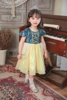 Dress Army green female Other / other 90cm,100cm,110cm,120cm,130cm,140cm Other 100% summer princess Long sleeves Solid color polyester fiber A-line skirt 7 years, 8 years, 12 months, 3 years, 6 years, 18 months, 2 years, 5 years, 4 years Chinese Mainland
