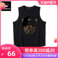 Vest / vest Youth fashion KERWATS M L XL 2XL 3XL S 4XL 5XL 6XL Black and white motion easy Sweat vest routine summer Crew neck Large size 2020 tide Geometric pattern Cloth hem cotton Cotton 100% washing Summer 2020 Pure e-commerce (online only) More than 95%