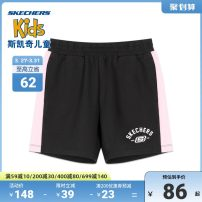 trousers SKECHERS / SKECHERS female 110cm 120cm 130cm 140cm 150cm 155cm summer shorts leisure time Casual pants Leather belt middle-waisted Don't open the crotch Cotton 71% polyester 25% polyurethane elastic fiber (spandex) 4% Class B Summer 2020
