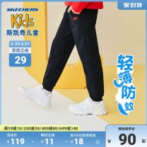 trousers SKECHERS / SKECHERS male 110cm 120cm 130cm 140cm 150cm 160cm 170cm spring and autumn trousers leisure time There are models in the real shooting Sports pants Tether middle-waisted cotton Don't open the crotch Polyester 63% viscose 37% Class B Autumn 2020