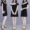 Dress Summer 2021 black S,M,L,XL,2XL Mid length dress singleton  Short sleeve