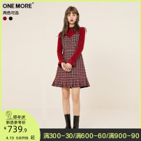 Dress Winter 2020 Plaid red and Black Plaid red and Black Plaid pre-sale 1 Plaid red and Black Plaid pre-sale 2 Plaid pre-sale 1 Plaid pre-sale 2 155/80A/XS 160/84A/S 165/88A/M Short skirt singleton  Long sleeves commute Half high collar High waist other Socket other routine Others 25-29 years old