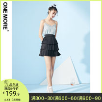 skirt Summer 2020 Black pre-sale 1 Black pre-sale 2 Short skirt commute High waist A-line skirt Solid color 25-29 years old More than 95% one more polyester fiber Lace up lady Polyester 100% Same model in shopping mall (sold online and offline)