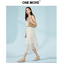 Dress Summer 2020 Rice flower 155/80A/XS 160/84A/S 165/88A/M 170/92A/L Mid length dress singleton  Sleeveless commute other High waist other Socket A-line skirt other 25-29 years old Type A one more lady Button A1WA9205B03、 More than 95% polyester fiber Polyester 100%