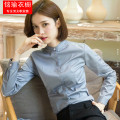 shirt Spring 2021 cotton 51% (inclusive) - 70% (inclusive) Long sleeves Versatile Regular stand collar Single row multi button routine Solid color Self cultivation