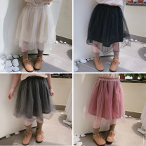 skirt The recommended height is 90cm-100cm for size 7, 100cm-110cm for size 9, 110cm-120cm for size 11, 120cm-130cm for size 13 and 130cm-140cm for size 15 Apricot, black, gray, pink Other / other female Other 100% spring and autumn