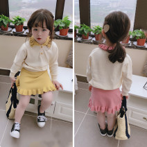 suit Other / other Yellow, pink The recommended height is 90cm-100cm for size 7, 100cm-110cm for size 9, 110cm-120cm for size 11, 120cm-130cm for size 13 and 130cm-140cm for size 15 female spring and autumn 2 pieces There are models in the real shooting children Expression of love